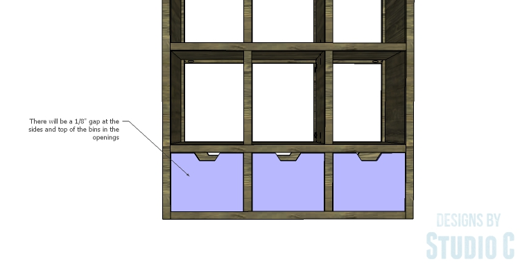 DIY Plans to Build a Reclaimed Bookcase Divider_Bins