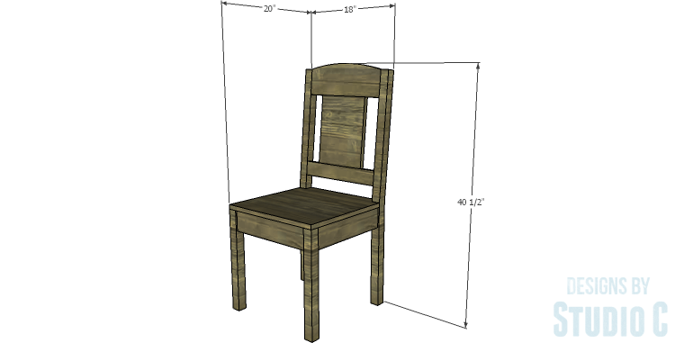 DIY Plans to Build a Weatherford Dining Chair_Dims