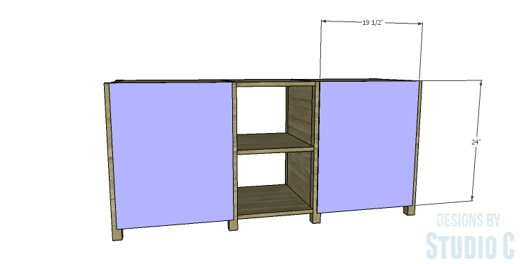 DIY Plans to Build a Connor Media Console_Back