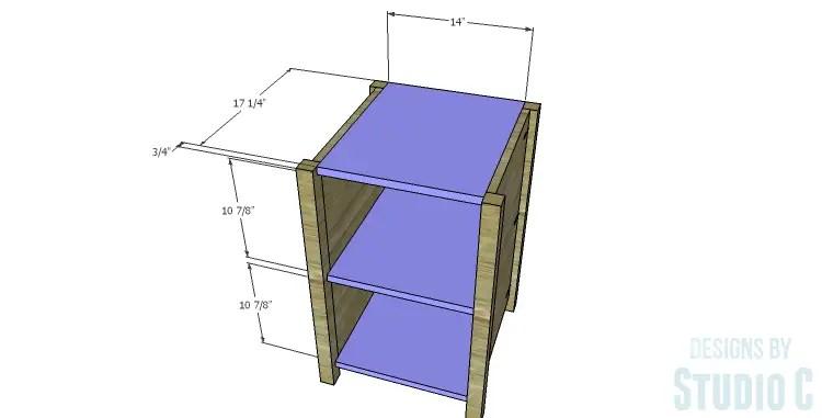 DIY Plans to Build a Connor Media Console_Center Shelves