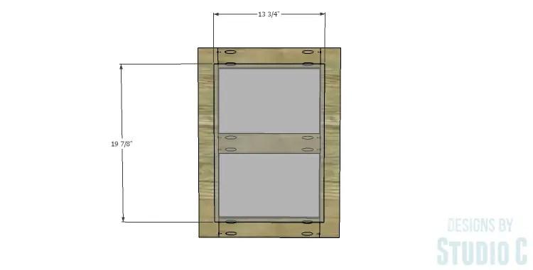 DIY Plans to Build a Connor Media Console_Door Panel