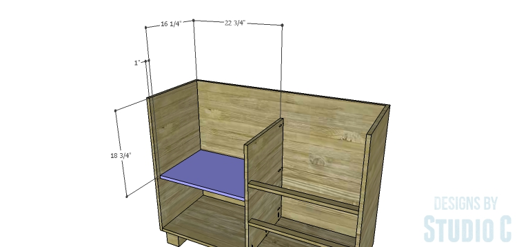 DIY Plans to Build a Brenley Media Console_Middle Shelf