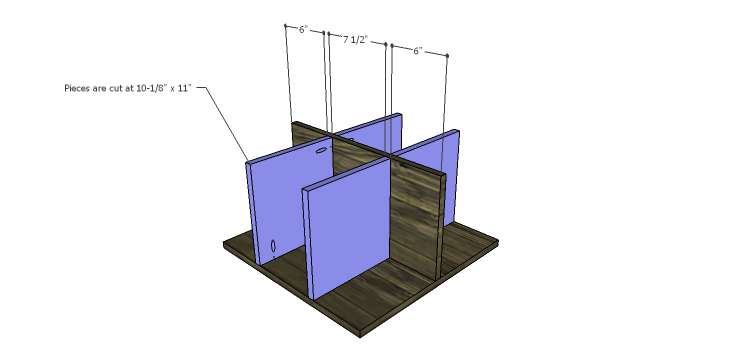 DIY Plans to Build a Warner Storage Shelf_Lower Dividers 2