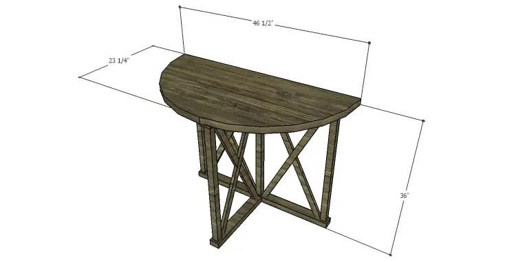 DIY Plans to Build a Davidson Console Table