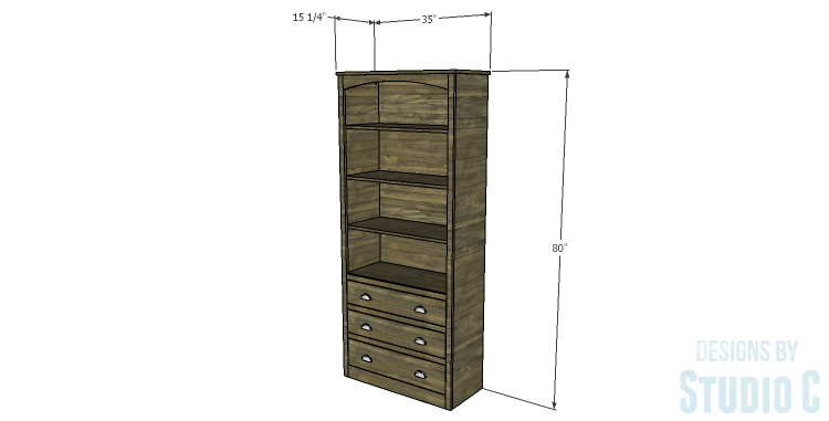 DIY Plans to Build a Bombay Bookcase