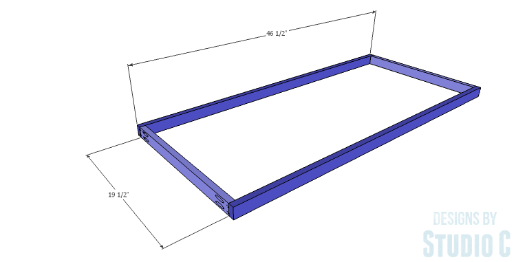 DIY Plans to Build a Simply Classic Coffee Table_Shelf Frame 1