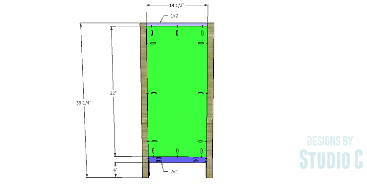 DIY Plans to Build a Frances Buffet_Side Frames