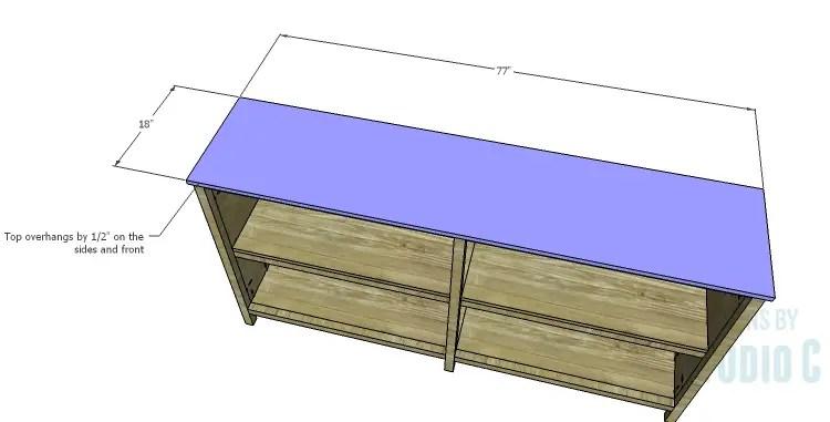 DIY Plans to Build a Frances Buffet_Top