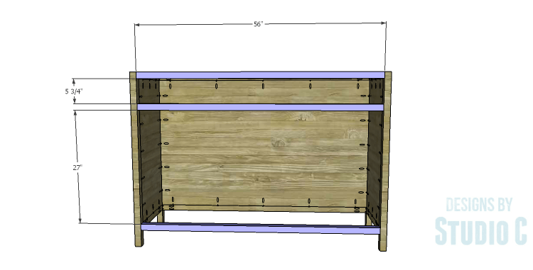 DIY Plans to Build a Doyle Cabinet_Front Stretchers