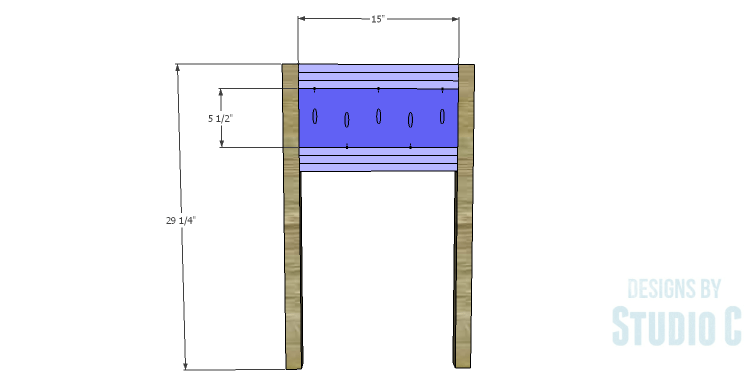 DIY Plans to Build a Holly Console Table_Sides