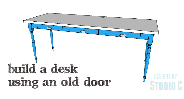 DIY Plans to Build a Desk with an Old Door_Copy