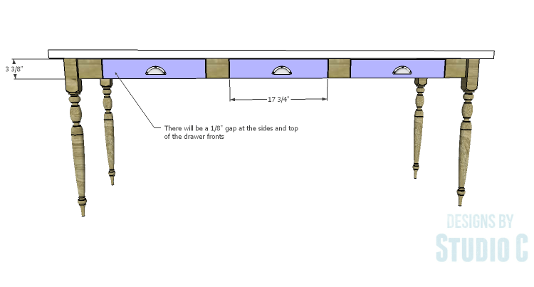 DIY Plans to Build a Desk with an Old Door_Drawer Fronts