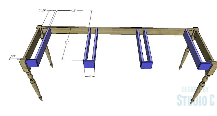 DIY Plans to Build a Desk with an Old Door_Supports 1