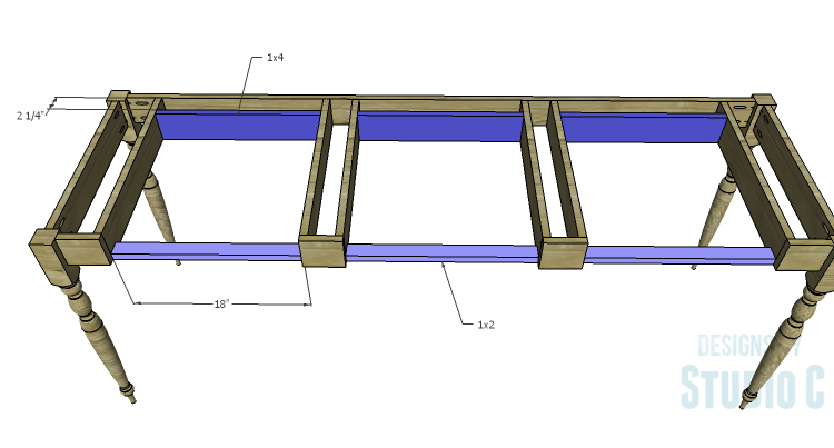 DIY Plans to Build a Desk with an Old Door_Supports 2