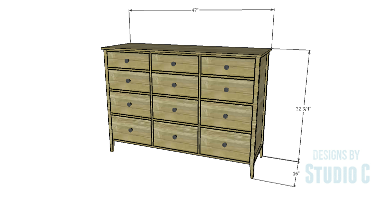 DIY Plans to Build a Gabriela Dresser