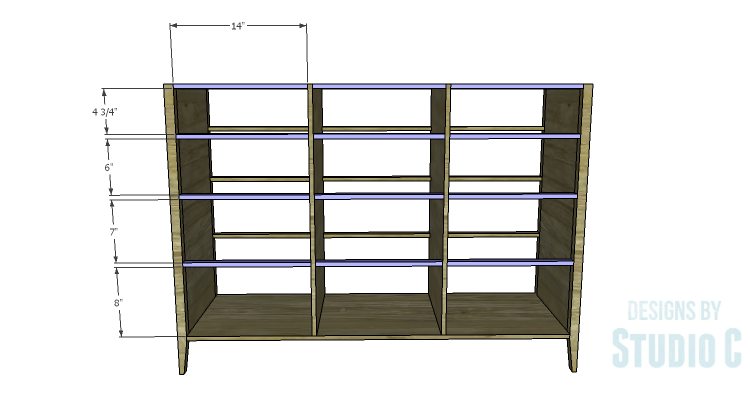 DIY Plans to Build a Gabriela Dresser_Front Stretchers