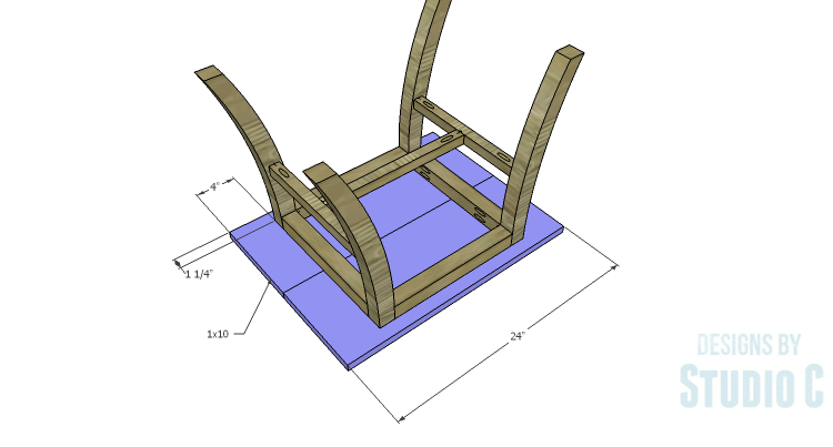 DIY Plans to Build a Pi Footstool_Top