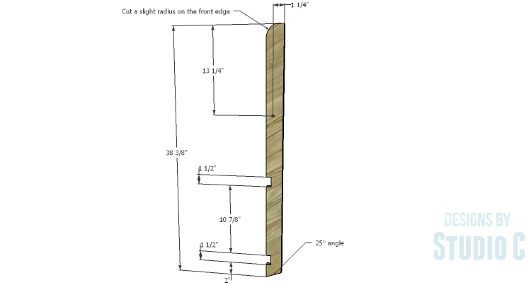 DIY Plans to Build a Folding Bench_Front Legs