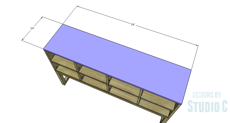DIY Plans to Build a Katherine Buffet_Top