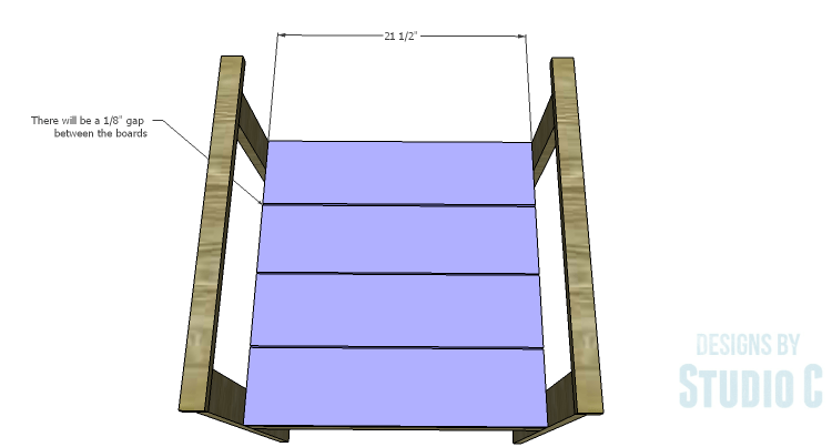 DIY Plans to Build a Quinn Outdoor Chair_Seat Planks