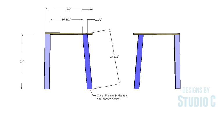 DIY Plans to Build a Quinn Outdoor Chair_Sides