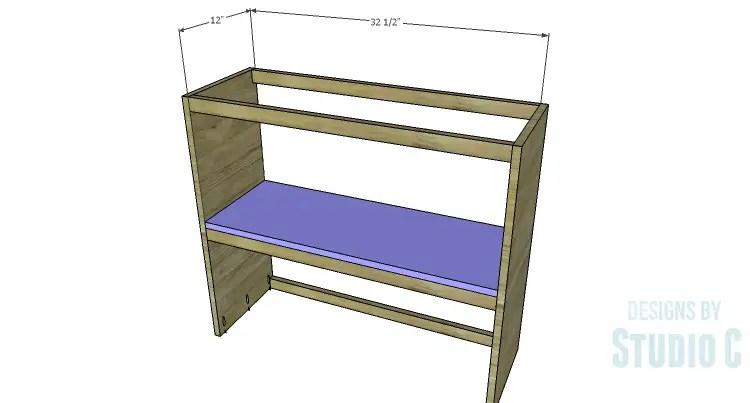 DIY Plans to Build a Brecken Dresser Hutch-Shelf