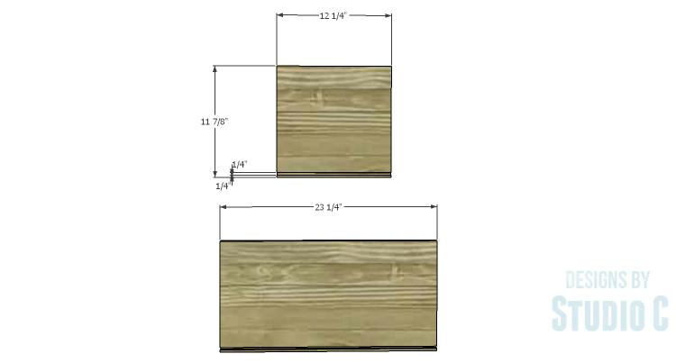 DIY Plans to Build a Coat Cabinet-Drawer 1