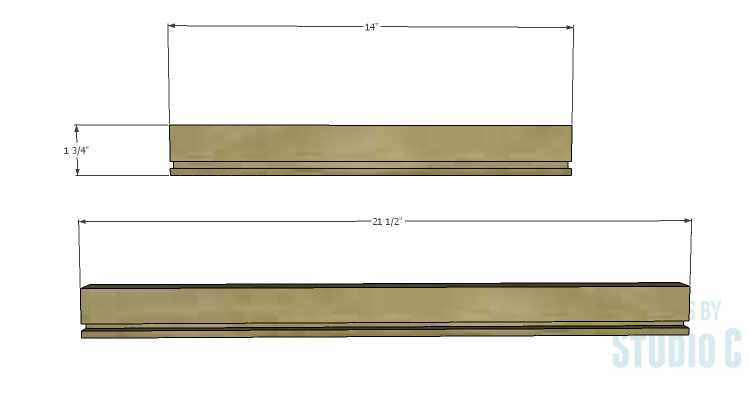 DIY Plans to Build an Open Shelf Desk-Center Drawer 1