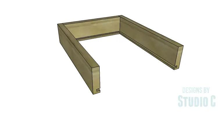 DIY Plans to Build an Open Shelf Desk-Outer Drawer 2