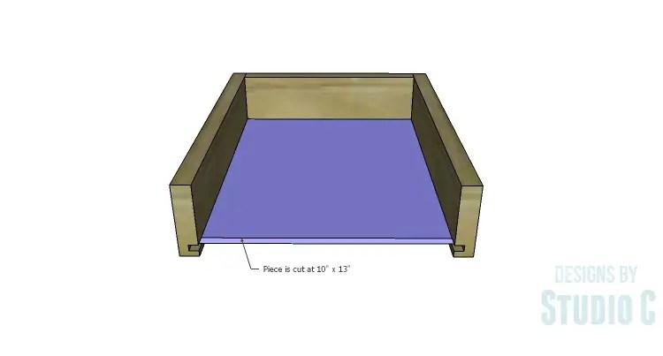 DIY Plans to Build an Open Shelf Desk-Outer Drawer 3