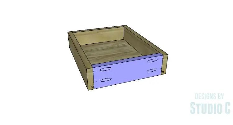 DIY Plans to Build an Open Shelf Desk-Outer Drawer 4