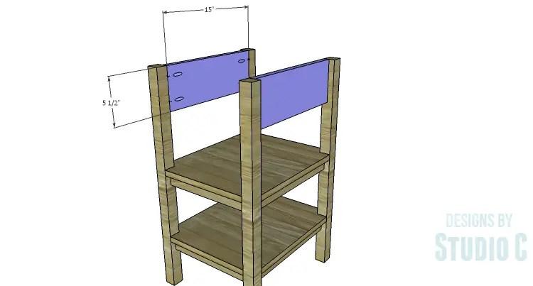 DIY Plans to Build an Open Shelf Desk-Outer Sides