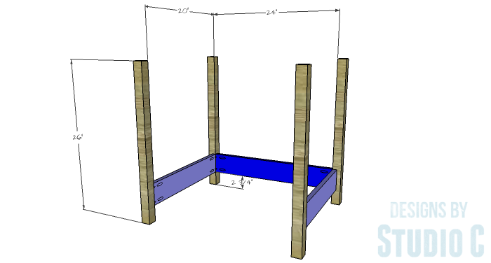 DIY Furniture Plans to Build a Blackwell Side Table-Lower Sides & Legs