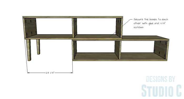 DIY Furniture Plans to Build a Contemporary Media Stand-Assembly