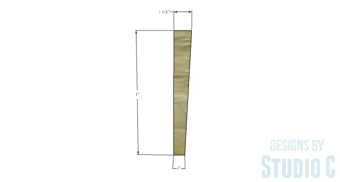 DIY Furniture Plans to Build a Contemporary Media Stand-Legs 1