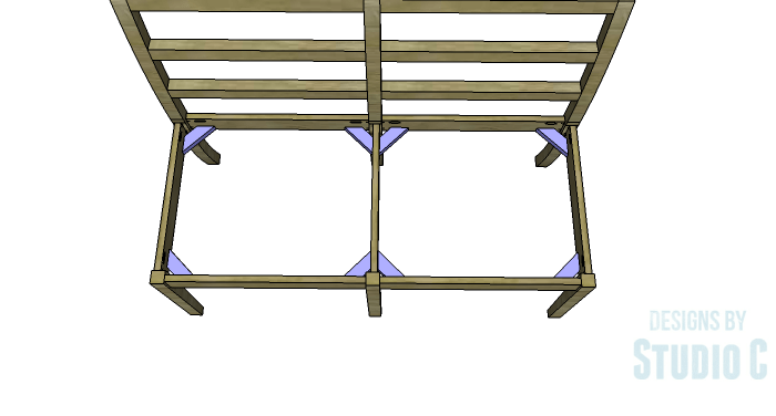 DIY Furniture Plans to Build an Anna Bench - Corner Braces