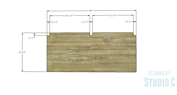 DIY Furniture Plans to Build an Anna Bench - Seat 1