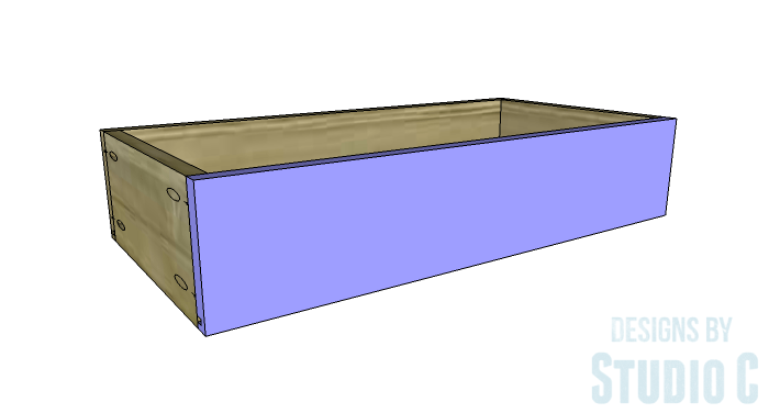 DIY Furniture Plans to Build an Open Bookcase with Drawers - Drawers 4