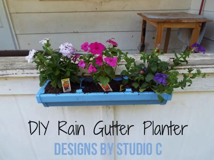 DIY Rain Gutter Planter - Featured Image