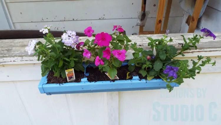 DIY Rain Gutter Planter - Front View
