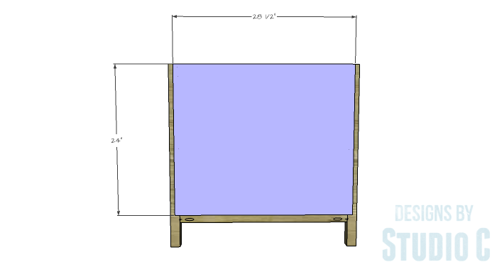 DIY Furniture Plans to Build an Open Shelf Sideboard - Back