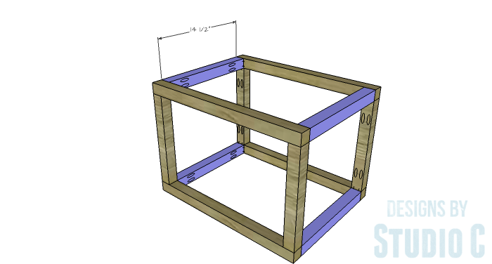 DIY Furniture Plans to Build a Coffee Table with Slide-Out Extensions - Ottoman Side Stretchers