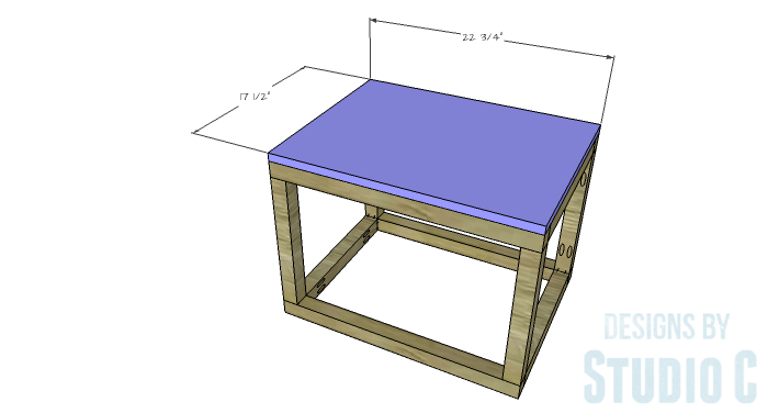 DIY Furniture Plans to Build a Coffee Table with Slide-Out Extensions - Ottoman Top
