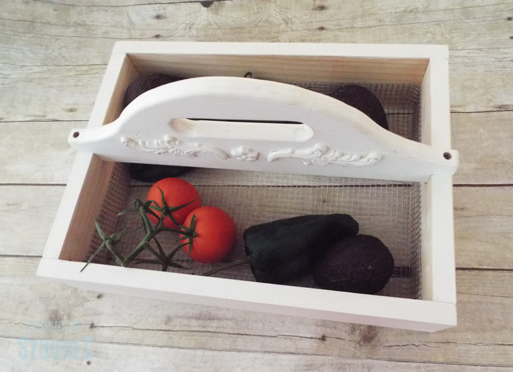 DIY Plans to Build a Vegetable Gathering Basket - Angled Top View