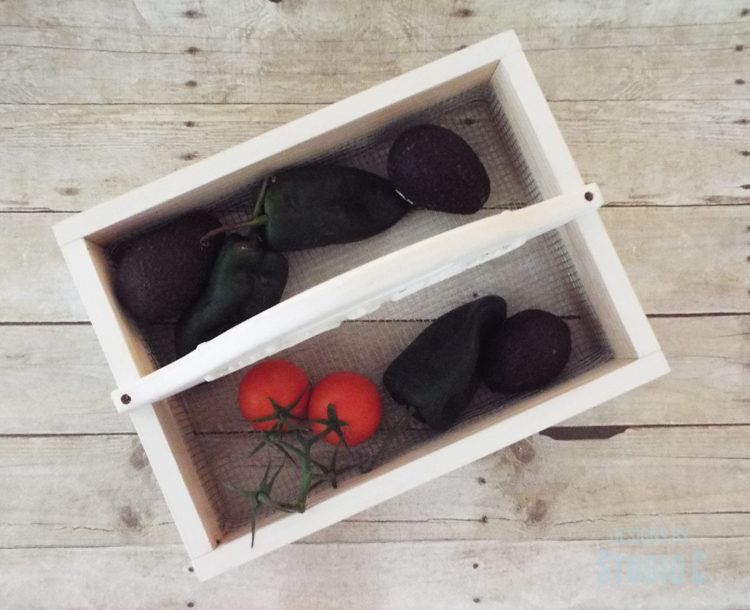 DIY Plans to Build a Vegetable Gathering Basket - Top View