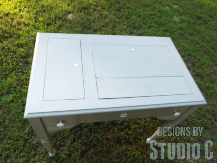 Sewing Machine Cabinet Makeover - Top Covers