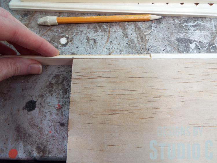 DIY Wall Sign with Scrappy Moulding - Marking Miters