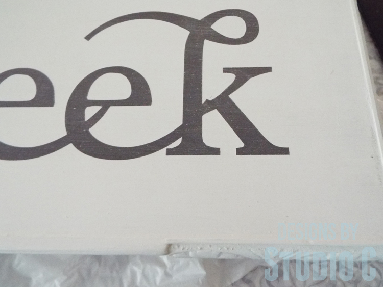 DIY Wall Sign with Scrappy Moulding - Reverse Stencil