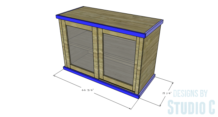 DIY Furniture Plans to Build a Stackable Cabinet - Upper & Lower Trim