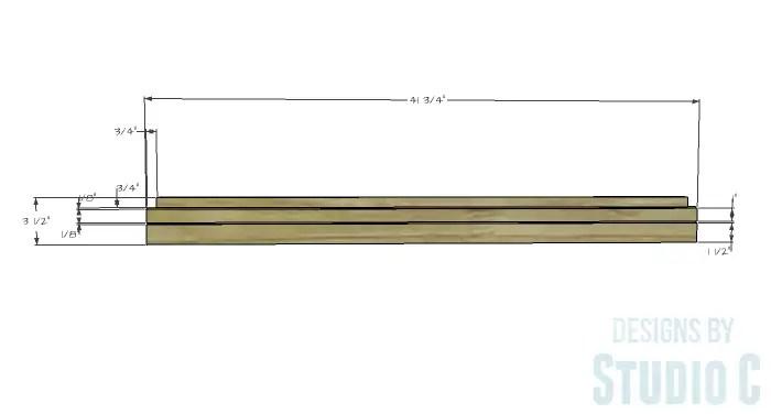 DIY Furniture Plans to Build a Stackable Cabinet - Upper Stretcher 1